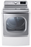 DLGX7701WE LG 9.0 Cu. Ft. Mega Capacity TurboSteam Gas Dryer with EasyLoad Door - White