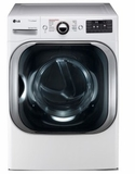 "DLGX8101W LG 29"" 9.0 Cu. Ft. Mega Capacity Gas Steam Dryer with TrueSteam Technology and Sensor Dry - White"