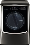 "DLGX9501K LG 29"" 9.0 cu. ft. TurboSteam Series Gas Dryer with 14 Drying Programs and Speed Dry - Black Stainless Steel"