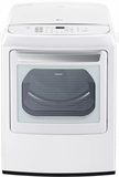 DLGY1902WE LG 7.3 cu.ft. Ultra Large Capacity High Efficiency Gas Dryer with EasyLoad and Sensor Dry - White