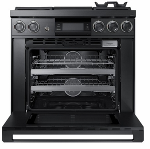 """DOP36M94DLM Dacor 36"""" Modernist Collection Pro Natural Gas Dual-Fuel Steam Range with Griddle - Graphite Stainless Steel"""