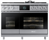 "DOP48M96DLS Dacor 48"" Contemporary Freestanding Dual Fuel Range with Illumina Knobs and Wi-Fi Connection - Natural Gas - Stainless Steel"