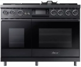 """DOP48M96DPM Dacor 48"""" Contemporary Freestanding Dual Fuel Range with Illumina Knobs and Wi-Fi Connection - Liquid Propane - Graphite Stainless Steel"""