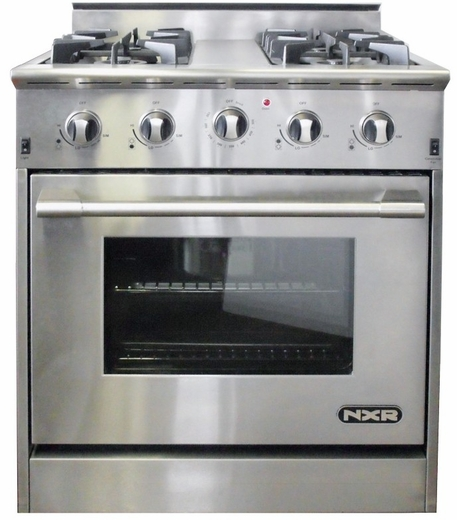 "DRGB3001 NXR 30"" Professional Range with Four Burners, Convection Oven, Natural Gas - Stainless Steel"