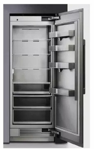 """DRR24980RAP Dacor 24"""" Contemporary 13.7 cu. ft. Right Hinge Column Refrigerator with FreshZone Drawer and Power Cool - Custom Panel"""