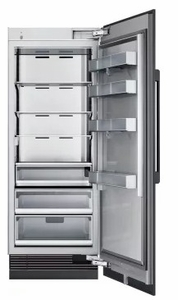 """DRR30980RAP 30"""" Dacor Modernist Series 17.8 cu. ft. Right Hinge Column Refrigerator with FreshZone Drawer and Power Cool - Custom Panel"""