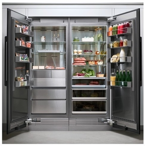 "DRR36980LAP 36"" Dacor Contemporary 21.5 cu. ft. Left Hinge Column Refrigerator with FreshZone Drawer and Power Cool - Custom Panel"