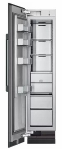 """DRZ18980LAP 18"""" Dacor Contemporary 9.4 cu. ft. Left Hinge Column Freezer with Dual Ice Makers and Power Freeze - Custom Panel"""