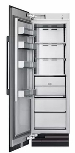 """DRZ24980LAP 24"""" Dacor Modernist Series 13.6 cu. ft. Left Hinge Column Freezer with Dual Ice Makers and Power Freeze - Custom Panel"""