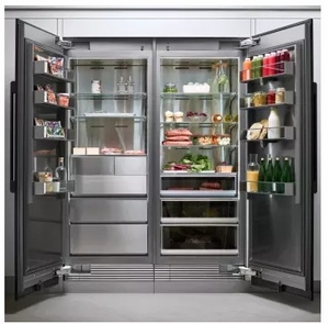 "DRZ36980LAP 36"" Dacor Modernist Series 21.1 cu. ft. Left Hinge Column Freezer with Dual Ice Makers and Power Freeze - Custom Panel"