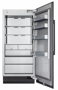 "DRZ36980RAP 36"" Dacor Modernist Series 21.1 cu. ft. Right Hinge Column Freezer with Dual Ice Makers and Power Freeze - Custom Panel"