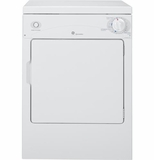 DSKP333ECWW GE Spacemaker 120V 3.6 Cu. Ft. Portable Electric Dryer with DuraDrum - White