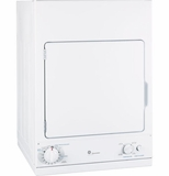 DSKS433EBWW GE Spacemaker 240V 3.6 Cu. Ft. Stationary Electric Dryer with Auto Dry - White