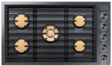 "DTG36M955FM Dacor 36"" Natural Gas Cooktop with Illumina Knobs and Diamond-Like Carbon Finish - Graphite Stainless Steel"