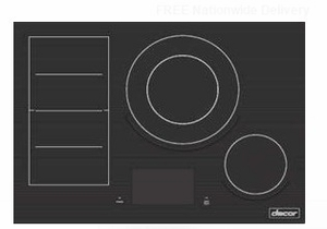 """DTI30M977BB Dacor 30"""" Contemporary Induction Cooktop with Flex Zone and LCD Control Panel - Black Ceramic Glass"""