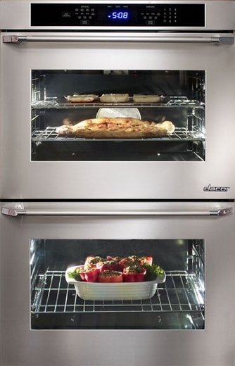 """DTO227S Dacor Distinctive 27"""" Double Wall Oven with Epicure Handles - Stainless Steel"""
