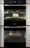 """DTOV230B Dacor Distinctive 30"""" Double Wall Oven with Epicure Handles - Black with Vertical Trims"""