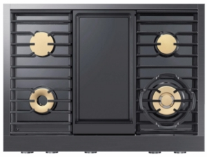 "DTT36M974PM Dacor 36"" Contemporary Liquid Propane Rangetop with Integrated Wi-Fi and Diamond-Like-Carbon Coating - Graphite Stainless Steel"