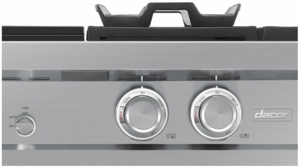 "DTT36M974PS Dacor 36"" Modernist Series Liquid Propane Rangetop with Electric Griddle and Integrated Wi-Fi - Stainless Steel"