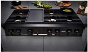 "DTT48M976LM Dacor 48"" Modernist Natural Gas Rangetop with Illumina Knobs and Dual-Stacked Burners - Graphite Stainless Steel"