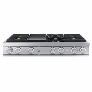 "DTT48M976LS Dacor 48"" Contemporary Gas Rangetop with Illumina Knobs and Dual-Stacked Burners - Stainless Steel"