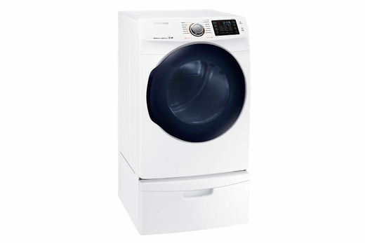 """DV45K6200EW Samsung 27"""" 7.5 Cu. Ft. Electric Dryer with 12 Steam Cycles and Sensor Dry - White"""