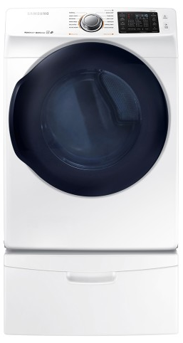 "DV45K6200GW Samsung 27"" 7.5 Cu. Ft. Gas Dryer with 12 Steam Cycles and Vent Sensor - White"
