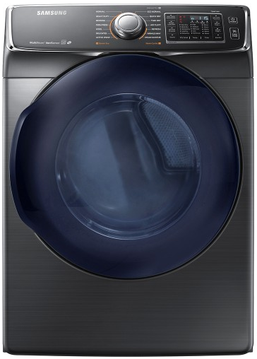 "DV45K6500GV 27"" 7.5 cu. ft. Gas Dryer with 14 Dry Cycles and  Multi-Steam Technology - Black Stainless"