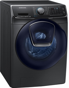 DV50K7500EV Samsung Electric Dryer with Vent Sensor & Stainless Steel Drum - Black Stainless Steel