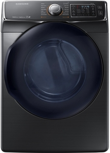 DV50K7500GV Samsung Gas Dryer with Vent Sensor & Stainless Steel Drum - Black Stainless Steel