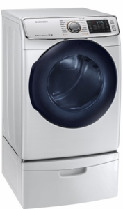 "DV50K7500GW Samsung 27"" 7.5 cu. ft. Gas Dryer with 14 Dry Cycles 5 Temperature Settings and MultiSteam Function - White"