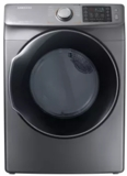 "DVE45M5500P Samsung 27"" 7.5 Cu. Ft. Electric Dryer with Wrinkle Prevent Option and Multi-Steam Technology - Platinum"