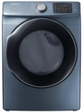 "DVE45M5500Z Samsung 27"" 7.5 Cu. Ft. Electric Dryer with Wrinkle Prevent Option and Multi-Steam Technology - Blue"