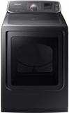 "DVE52M7750V Samsung 27"" 7.4 cu. ft. Capacity Electric Dryer with Multi-Steam Technology and Wrinkle Prevent Option - Black Stainless Steel"
