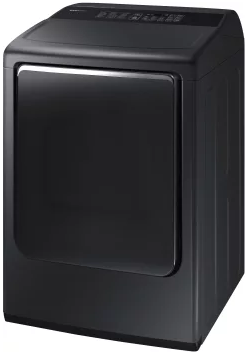 "DVE52M8650V Samsung 27"" 7.4 cu. ft. Electric Dryer with 3-Way Venting and Wrinkle Prevent Option - Black Stainless Steel"