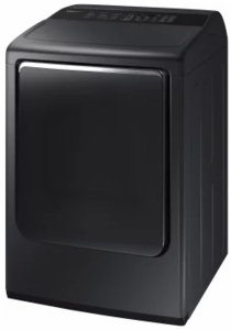 "DVE54M8750V Samsung 27"" 7.4 cu. ft. Electric Dryer with Integrated Touch Controls and Multi-Steam Technology - Black"