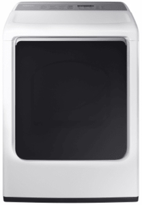 "DVE54M8750W Samsung 27"" 7.4 cu. ft. Electric Dryer with Integrated Touch Controls and Multi-Steam Technology - White"