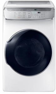 """DVE55M9600W Samsung 27"""" 7.5 cu. ft. Capacity Electric Front Load Dryer With FlexDry and Multi-Steam Technology - White"""