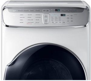 "DVE60M9900W Samsung 27"" 7.5 cu. ft. Capacity Electric Front Load Dryer With FlexDry and Multi-Steam Technology - White"