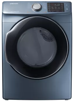 "DVG45M5500Z Samsung 27"" 7.5 Cu. Ft. Gas Dryer with Wrinkle Prevent Option and Multi-Steam Technology - Blue"