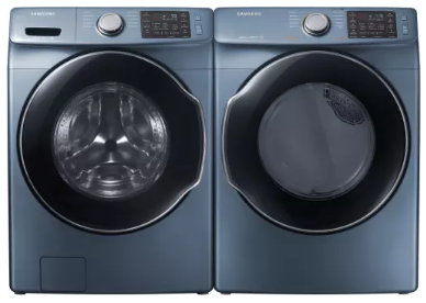 """DVG45M5500Z Samsung 27"""" 7.5 Cu. Ft. Gas Dryer with Wrinkle Prevent Option and Multi-Steam Technology - Blue"""