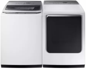 """DVG52M8650W Samsung 27"""" 7.4 cu. ft. Gas Dryer with 3-Way Venting and Wrinkle Prevent Option - White"""