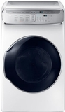 "DVG60M9900W Samsung 27"" 7.5 cu. ft. Capacity Gas Front Load Dryer With FlexDry and Multi-Steam Technology - White"
