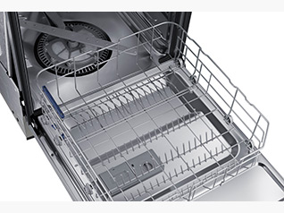 "DW80J3020UB Samsung 24"" Front Control Dishwasher with Stainless Steel Interior - Black"