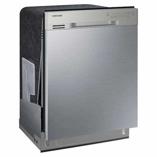 Dw80j3020us Samsung 24 Front Control Dishwasher With Stainless Steel Interior Stainless Steel