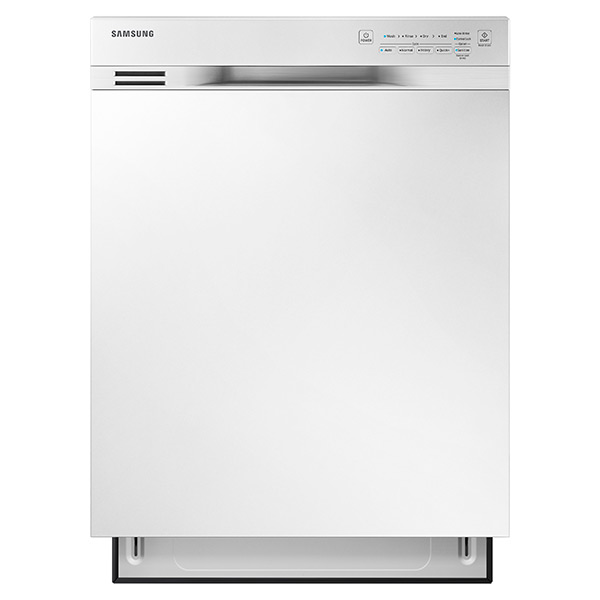 Reviews for dw80j3020uw samsung 24 front control dishwasher with stainless steel interior white for White dishwasher with stainless steel interior
