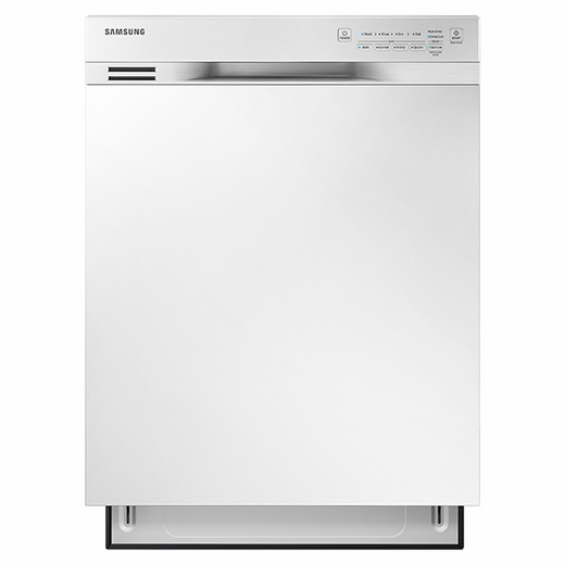 "DW80J3020UW Samsung 24"" Front Control Dishwasher with Stainless Steel Interior - White"