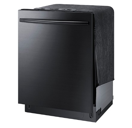 "DW80K7050UG Samsung 24"" Built In Fully Integrated Dishwasher with 6 Wash Cycles and StormWash - Black Stainless Steel"
