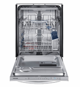 """DW80K7050UG Samsung 24"""" Built In Fully Integrated Dishwasher with 6 Wash Cycles and StormWash - Black Stainless Steel"""