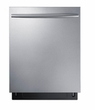 "DW80K70505US Samsung 24"" Built In Fully Integrated Dishwasher with 6 Wash Cycles and StormWash - Stainless Steel"
